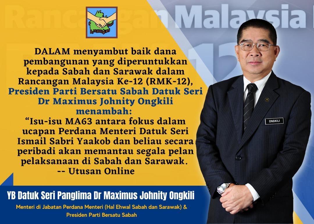 PBS sambut baik dana pembangunan RMK12 kepada Sabah