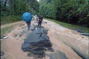 Jalan Kota Kinabalu - Tambunan terputus