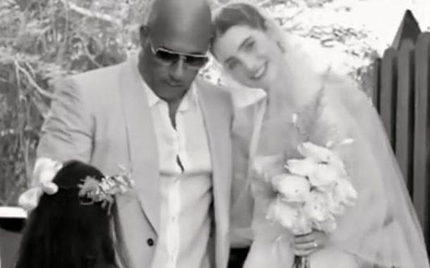 Vin Diesel iringi anak perempuan Paul Walker berkahwin