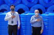駱意榮發起 沙砂、吉隆坡與台灣熱心人 捐甘榜蘇谷災黎蓄水箱