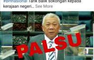 Kenyataan media 'UMNO Sabah hilang kepercayaan terhadap Ketua Menteri' yang tular adalah palsu